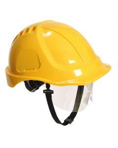 Hjälm PW54 Endurance Plus med visir gul
