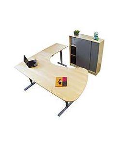Sitt/ståbord 3-pelarstativ eldirvet T-stativ