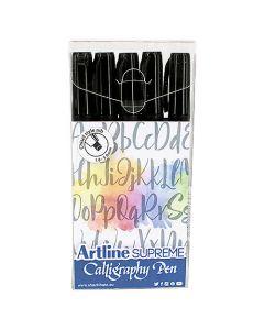 Kalligrafipenna Artline Supreme 1-5mm svart 5st/fp