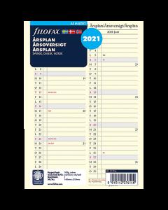 Årsplan Filofax A5 2021