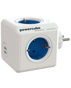 Grenuttag PowerCube 4-vägs + USB