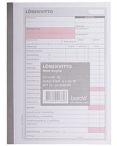Blankett Avlöningskvitto A5 2x50