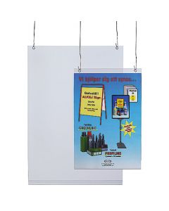 Plastficka frihängande A4