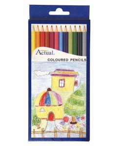 Färgpenna Actual sorterade färger 12st/fp