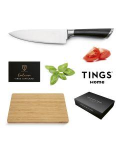 Gåvokort Bonusgåva 7 Tings Home Kockkniv & Skärbräda