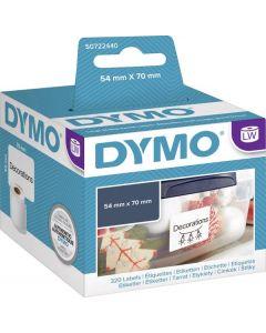 Etikett Dymo LW Papper 70x54 mm vit 320st/rle