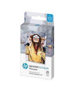 Fotopapper HP Sprocket självhäftande 50x76mm 290g 20ark/fp