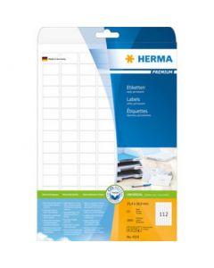 Etikett 25,4X16,9  Vit  Herma 25Ark/Fp