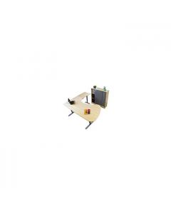 Sitt/ståbord 3-pelarstativ manuellt T-stativ