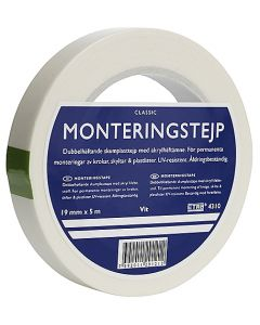 Monteringstejp Skumplast Etab 5mx19mm