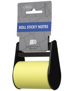Notisblock på rulle m hållare 60mm x 8m gul