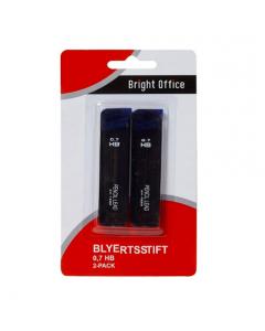 Blyertsstift HB 0,7 2 tuber/fp