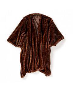 Poncho Arctic brun