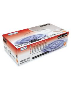 Handskar Magic Touch Nitril puderfria vita L 100/fp