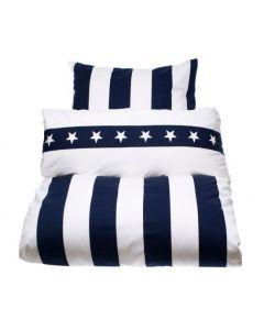 Bäddset Southamton Stripe Blue/White 4-dels