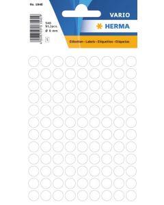 Etikett Färgsignal rund 8mm vit 540st/fp
