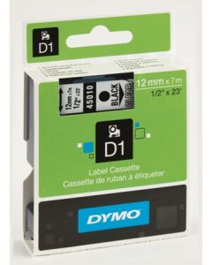 Märkband D1 12mm sv/vit