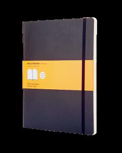 Anteckningsbok Moleskine Soft XL linjerad svart