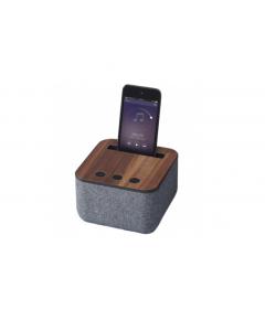 Högtalare Shae Bluetooth med tyg och trä grå