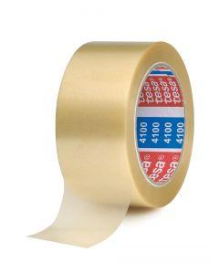 Packtejp Tesa 4100 66x50 vit PVC Präglad