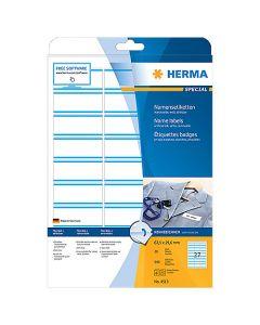 Namnetikett Herma 80 x 50mm vit 200st/fp