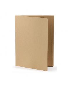 Kartongmapp 1-klaff A4 brun