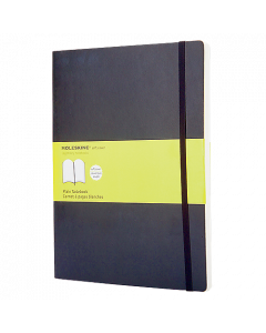 Anteckningsbok Moleskine Soft XL olinjerad svart