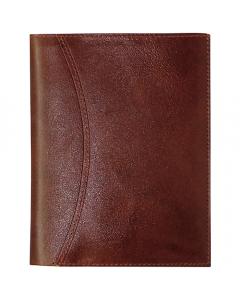 Alm. Burde Karavan kalenderplånbok brunt skinn