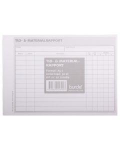 Blankett Tid & materialrapport
