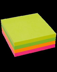 Häftis Stick'n Notes Kub 76x76mm neonfärger