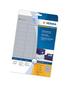 Etikett Herma Special 63,5 x 38,1mm silver 525st/fp