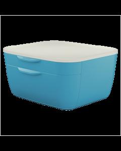 Förvaringsbox Leitz Cosy 2 lådor blå