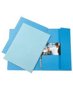 Kartongmapp 3-klaff A4 blå