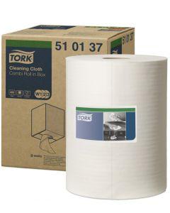 Rengöringsduk Tork W1 Premium Vit 32Cm/I Box 1Rl/Fp