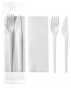 Bestickset kniv, gaffel, servett 100/fp