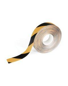 Golvtejp Duraline avtagbar 50mm x 15m svart/gul
