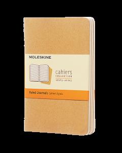 Anteckningsbok Moleskine Cahier Pocket linjerad brun