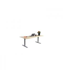 Sitt/ståbord 2-pelarstativ manuellt T-stativ