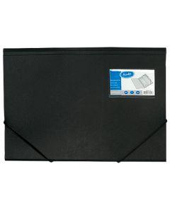 Snoddmapp Bantex A4 m visitkortsficka svart