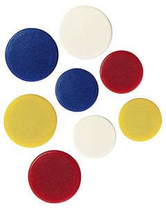 Magnet 30mm sorterade färger 6st/fp