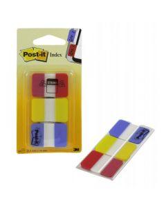 Märkflik Post-It 3-Pack  Röd/Gul/Blå   22St Flik/Fp